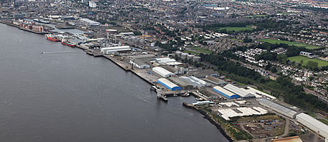 Aerial view of Forth Ports Dundee