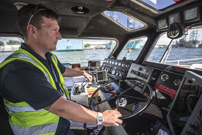 a Coxswain driving a pilot boat at Forth Ports Dundee
