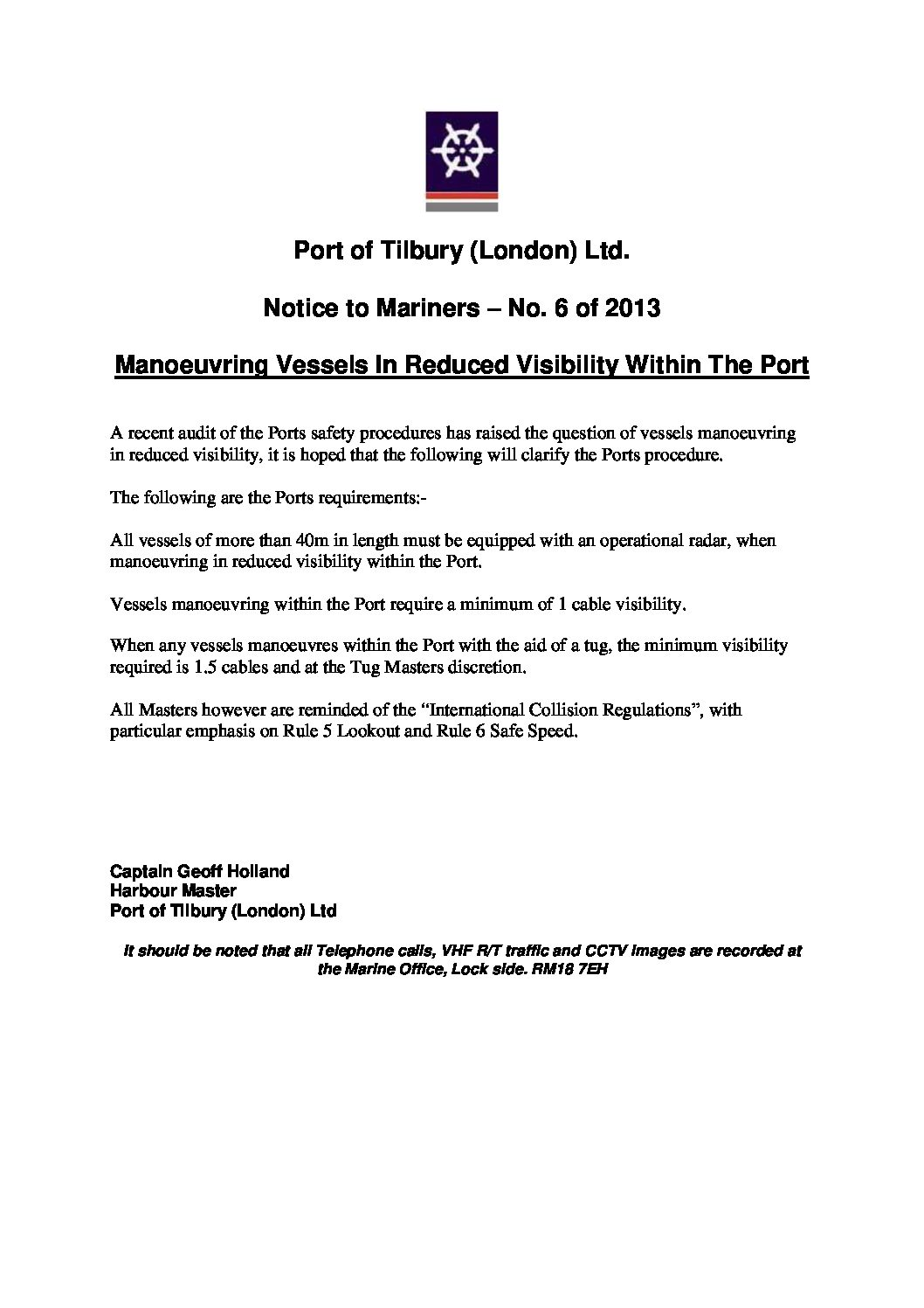 Tilbury Port Authority | Forth Ports